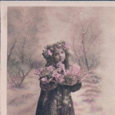 Postales: POSTAL NIÑO EN LA NIEVE - AÑO NUEVO - 2155. Lote 179330735
