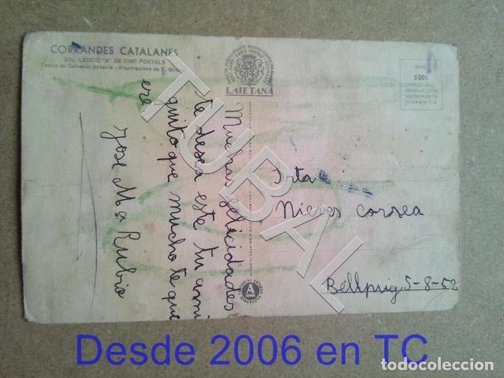 Postales: TUBAL POSTAL ANTIGUA CORRANDES CATALANES ENVÍO 70 CENT 2019 B03 - Foto 2 - 179949876