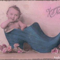 Postales: POSTAL NIÑO DENTRO DE UN ZAPATO. Lote 180169087
