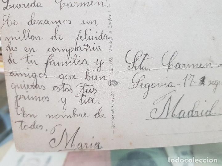 Postales: ANTIGUA POSTAL ROMANTICA NIÑA TOCANDO EL PIANO 1913 - Foto 2 - 180447711