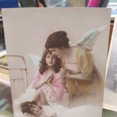 Postales: ANTIGUA POSTAL ROMANTICA NIÑOS ANGEL DE LA GUARDA 1916. Lote 180447792