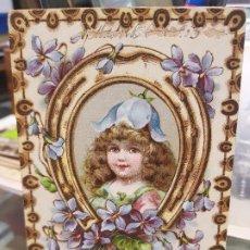 Postales: ANTIGUA POSTAL ROMANTICA NIÑA ORLA DE FLORES 1903. Lote 180448016