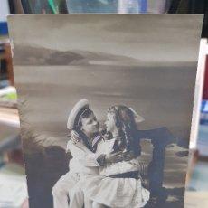 Postales: ANTIGUA POSTAL ROMANTICA NIÑO MARINERO ALICANTE 1911. Lote 180448481