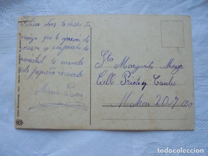Postales: Postal Navideña Niños con arbol y regalos 1910 - Foto 2 - 182745940