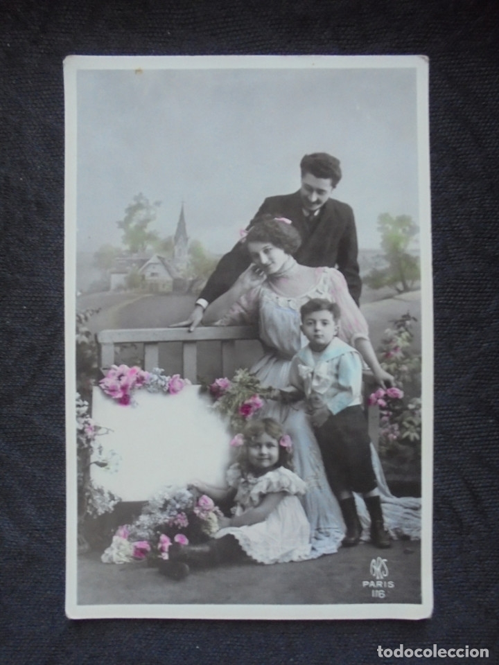 POSTAL PRIN 1900 NIÑOS CON PADRES (Postales - Postales Temáticas - Niños)