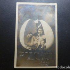 Postales: NIÑA EN HUEVO DE PASCUA POSTAL . Lote 183396166