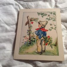 Postales: TARJETA SIN CIRCULAR CON EL TEMA, NIÑOS. EDITADO EN ITALIA EN LOS AÑOS 50. 9,0 X 11,0 CM. Lote 183452318