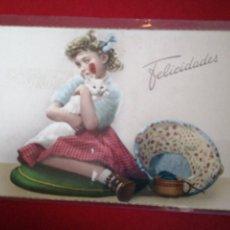 Postales: NIÑOS FELICIDADES SIN CIRCULAR CYZ. Lote 183698785