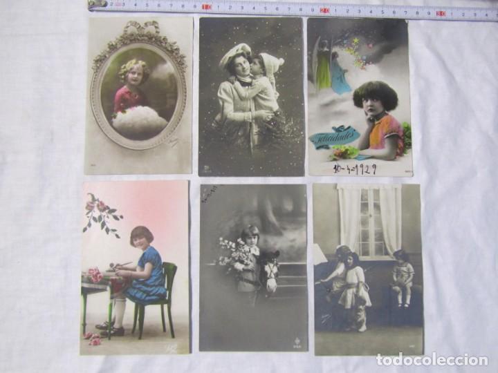Postales: 19 postales de niños, principios del siglo XX - Foto 2 - 185988136