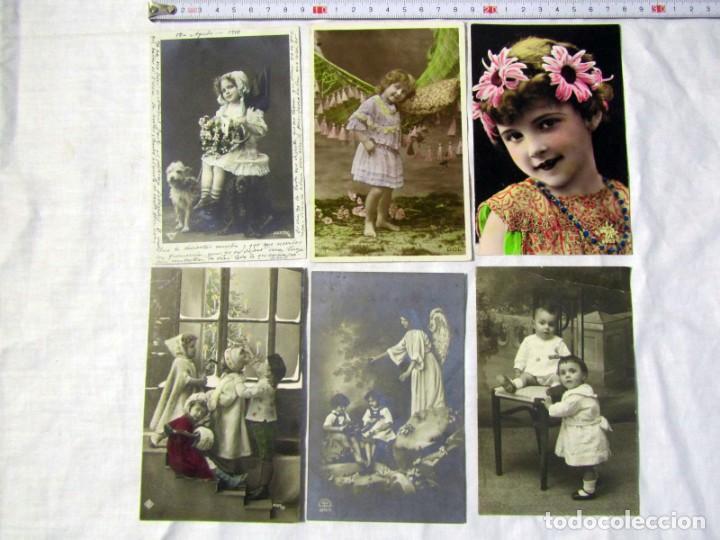 Postales: 19 postales de niños, principios del siglo XX - Foto 4 - 185988136