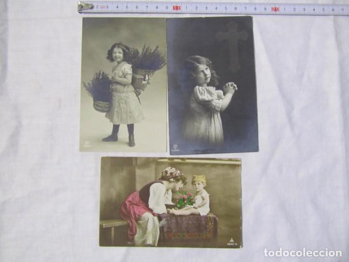 Postales: 19 postales de niños, principios del siglo XX - Foto 6 - 185988136