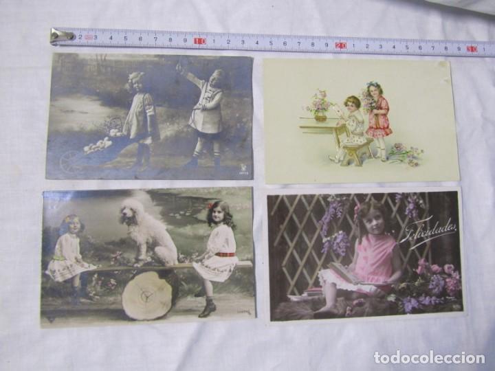 Postales: 19 postales de niños, principios del siglo XX - Foto 8 - 185988136