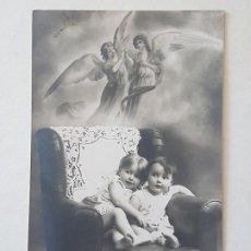 Postales: NIÑOS Y ANGELES POSTAL ANTIGUA. Lote 186149200