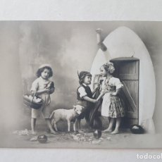 Postales: NIÑOS ESCENA BUCOLICA POSTAL ANTIGUA. Lote 186149673
