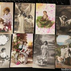 Postales: LOTE DE PISTALES ANTIGUAS DE NIÑOS. Lote 186173037