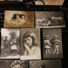 Postales: LOTE DE POSTALES DE NIÑOS. ANTIGUAS. Lote 186173843