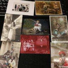 Postales: LOTE DE POSTALES DE NIÑOS. ANTIGUAS.. Lote 186173970