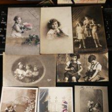 Postales: LOTE DE POSTALES DE NIÑOS. ANTIGUAS. Lote 186174221