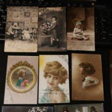 Postales: LOTE DE POSTALES DE NIÑOS. ANTIGUAS.. Lote 186175027