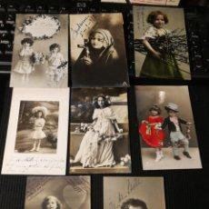 Postales: LOTE DE POSTALES DE NIÑOS. ANTIGUAS. Lote 186175245