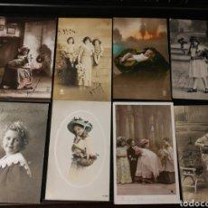 Postales: LOTE DE POSTALES DE NIÑOS. ANTIGUAS. Lote 186175546