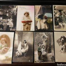 Postales: LOTE DE POSTALES DE NIÑOS. ANTIGUAS. Lote 186175710