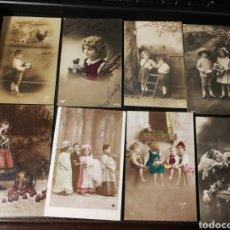 Postales: LOTE DE POSTALES DE NIÑOS. ANTIGUAS. Lote 186175833