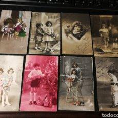 Postales: LOTE DE POSTALES DE NIÑOS. ANTIGUAS. Lote 186175961