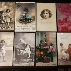 Postales: LOTE DE POSTALES DE NIÑOS. ANTIGUAS. Lote 186176123