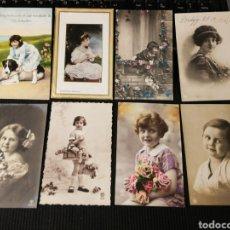 Postales: LOTE DE POSTALES DE NIÑOS. ANTIGUAS. Lote 186176502
