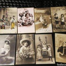 Postales: LOTE DE POSTALES DE NIÑOS. ANTIGUAS. Lote 186176686