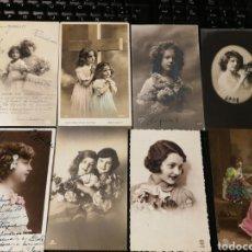 Postales: LOTE DE POSTALES DE NIÑOS. ANTIGUAS. Lote 186176833