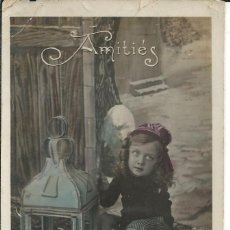 Postales: POSTAL FELICITACION NIÑA *AMITIÉS* - PC Nº 410. Lote 189596257