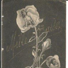 Postales: POSTAL FELICITACION NIÑAS EN LAS FLORES *MILLE BAISER* - AÑO 1906. Lote 189596373
