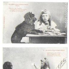 Postales: P-9005. PAREJA POSTALES FOTOGRAFICAS, LE CHOIX D'UN COLLABORATEUR ( FABLE). Nº1 Y 2.. Lote 192140152