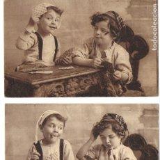Postales: P-10007. PAREJA DE POSTALES FOTOGRAFICAS PUBLICIDAD CHOCOLATE. FRANCIA, PRINCIPIOS S.XX.. Lote 192975351