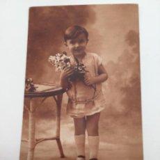 Postales: POSTAL. BONITA FOTO INFANTIL DE ESTUDIO. 1906. Lote 193084748