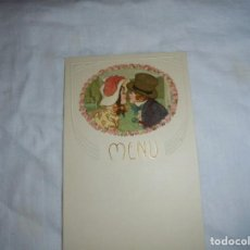 Postales: BONITA TARJETA MENU PAREJA DE NIÑOS. Lote 193184510