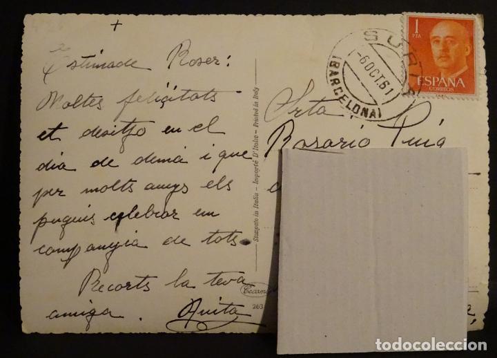 Postales: Postal circulada, con matasellos de Suria del año 1961 - Foto 2 - 194075177