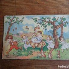 Postales: BONITA POSTAL DIBUJADA DE NIÑOS.. Lote 194877342
