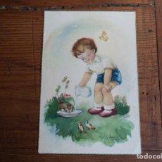 Postales: BONITA POSTAL DIBUJADA DE NIÑOS.. Lote 194877526