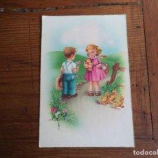 Postales: BONITA POSTAL DIBUJADA DE NIÑOS.. Lote 194877608