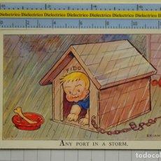 Postales: POSTAL DE NIÑOS DIBUJOS INFANTIL. AÑOS 20 - 30. GRAN BRETAÑA. ANY PORT IN STORM. NIPPER SERIES. 91. Lote 194903335