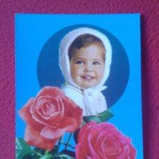 Postales: ANTIGUA POSTAL NIÑO NIÑA CON FLORES ROSAS CHILD FLOWERS... C. Y Z. ESCRITA, VER FOTOS Y DESCRIPCIÓN.. Lote 195013402