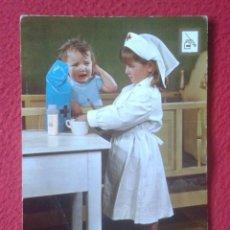 Postales: POSTAL POST CARD NIÑOS NIÑA ENFERMERA NURSE INFIRMIÈRE COLECCIÓN PROFESIONES FISA ESCUDO DE ORO...... Lote 195176637