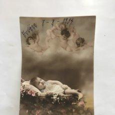 Postales: POSTAL ROMÁNTICA. EL BEBÉ. FECHADA EN CULLERA, 7-7-1914.. Lote 195180685