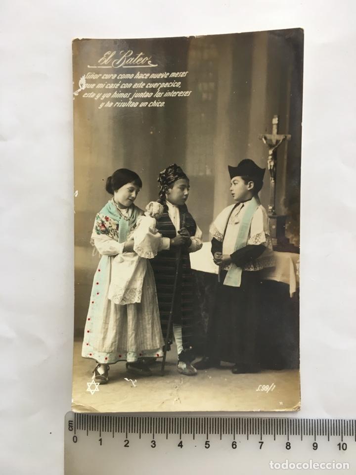 POSTAL ROMÁNTICA. EN LA SACRISTÍA. H. 1920?. (Postales - Postales Temáticas - Niños)