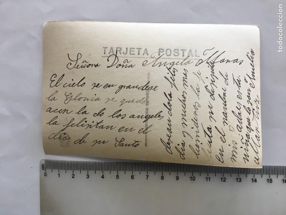 Postales: POSTAL ROMÁNTICA. ESCENA FAMILIAR, ABUELOS Y NIETAS. H. 1945?. - Foto 2 - 195183031