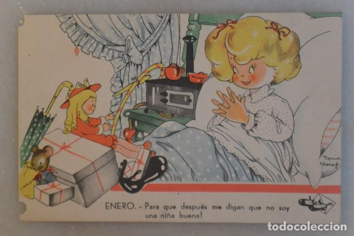 TARJETA POSTAL DE NIÑOS MARI PEPA MARIA CLARET. ENERO. 1942 (Postales - Postales Temáticas - Niños)