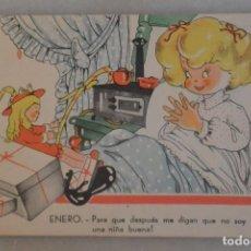 Postales: TARJETA POSTAL DE NIÑOS MARI PEPA MARIA CLARET. ENERO. 1942. Lote 195191693